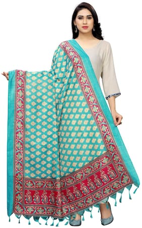 KKRISH Women Cotton Scarves - Blue