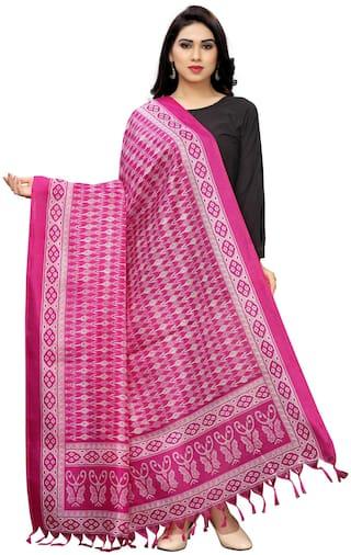 KKRISH Women Cotton Scarves - Pink
