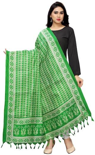 KKRISH Women Cotton Scarves - Green