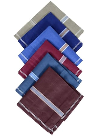 KLPSDXNT Multi Cotton Handkerchiefs ( Pack of 6 )