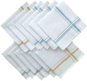 KLPSDXNT Men's Cotton Soft Handkerchief Pack of 12