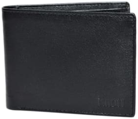 Knott Black Fashionable Leather Wallet for Men