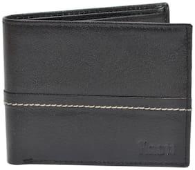 Knott Black Fashionable Leather Wallet for Men