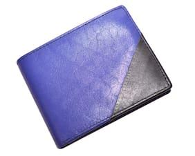 Knott Blue designer Leather Wallet
