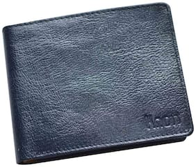 Knott Blue/Yellow  Fashionable Leather Wallet for Men
