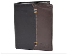 Knott Brown/Black  Fashionable Leather Wallet for Men