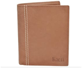 Knott Brown Fashionable Leather Wallet for Men