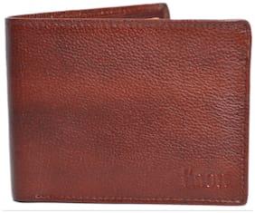 Knott Brown Trendy Leather Wallet for Men