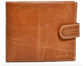 Knott Brown/Tan  Exclusive Leather Wallet for Men