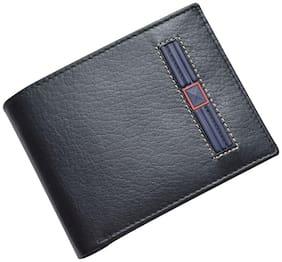 Knott Exclusive Black/Blue Leather Wallet for Men