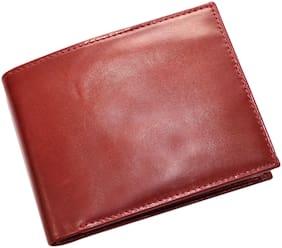 Knott Maroon Bi-Fold Wallet