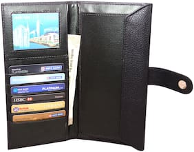 Knott Premium Black Passport cum Document Holder