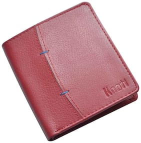 Knott Red Exclusive Leather Wallet for Men