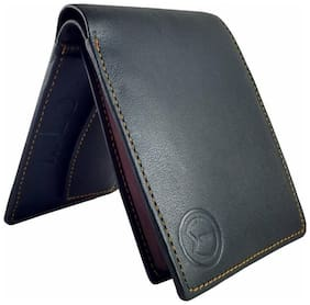 KnW Men's Black Genuine Leather Wallet