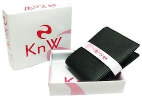 KnW Men Black Pu Bi-Fold Wallet ( Pack of 1 )