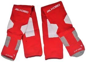 Kobo 3003-RED Football Stockings (Red)