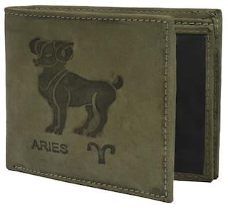 32484b2e1bde Buy Krosshorn Olive Green Hunter Leather Wallet for Men Online at ...