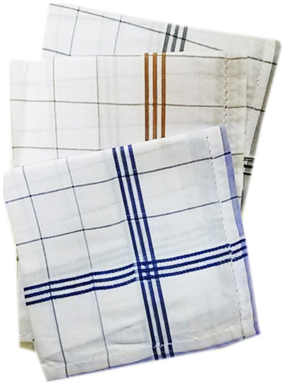 Kuber Industries White Hankerchiefs Set Of 3