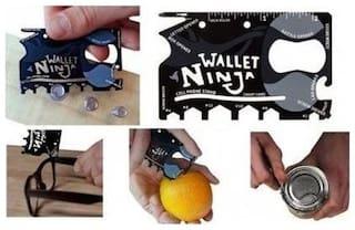K Kudos Enterprise Men Black Canvas Bi-Fold Wallet
