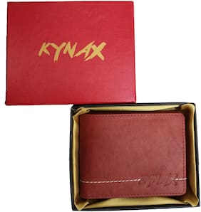 Kynax Luxury Men Light Brown Colour Hand Crafted Genuine Leather Wallet .Wallet has coin pouch and card holder with Elegant Gift Box Packing (modal nu a5000)