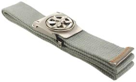 "L B Collections ""The Rhino"" Cotton Fabric Blue Color Autolock Belt  - belt053"