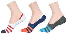 LA SMITH Men's Cotton Blend No Show Socks |Pack of 3| Invisible Loafer Socks
