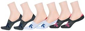 LA SMITH Men's Cotton Blend No Show Socks |Pack of 6| Invisible Loafer Socks