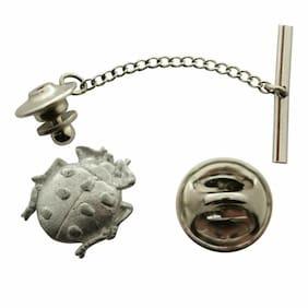 Ladybug Tie Tack ~ Antiqued Pewter ~ Tie Tack or Pin