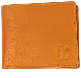 LANDMINE Men Tan Leather Bi-Fold Wallet ( Pack of 1 )