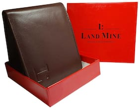 LANDMINE Men Brown Leather Bi-Fold Wallet ( Pack of 1 )