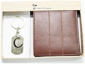 Laps of Luxury Men Brown Leather Bi-Fold Wallet ( Pack of 1 )