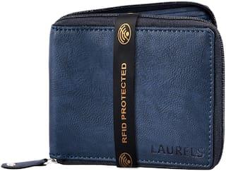 Laurels Men Blue Synthetic leather Bi-Fold Wallet ( Pack of 1 )