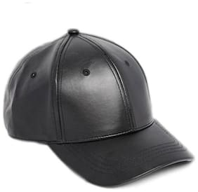 Leather Black Baseball Caps For Men And Women