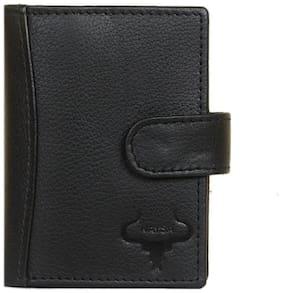 Leather Credit Card Holder Wallets For Men - Minimalist Mens Wallet RFID Blocking