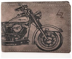 Leather Effect Brown Wallet