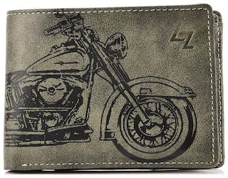 Leather Effect Green Wallet