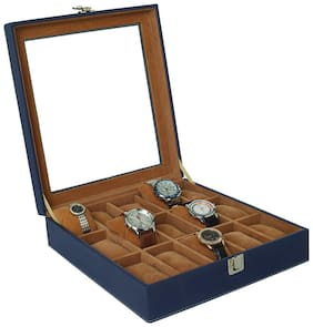 Leather World Men Pu Watch cases - Blue , Pack of 1