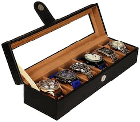 Leather World Men Pu Watch cases - Black , Pack of 1