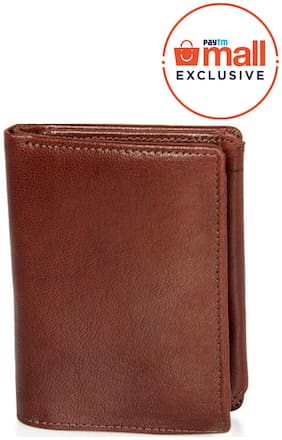 Leisures High Quality Multipurpose Leather Mens Tan Wallet
