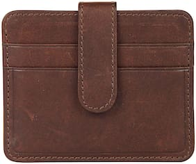 Leather Zentrum Men Brown Leather Passport Holder Wallet ( Pack of 1 )