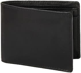 Leather Zentrum Men Black Leather Bi-Fold Wallet ( Pack of 1 )