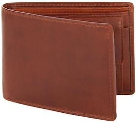 Leather Zentrum Men's Bi- Fold Wallet ( Tan )