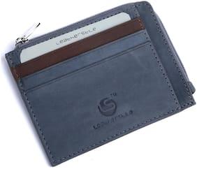 Leatherstile Men Grey Leather Zip Around Wallet ( Pack of 1 )