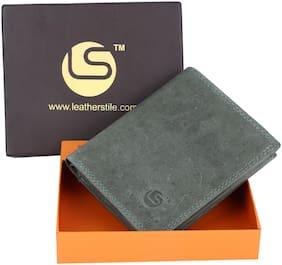 Leatherstile Men Green Leather Bi-Fold Wallet ( Pack of 1 )