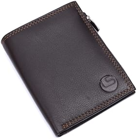 Leatherstile Men Brown Leather Bi-Fold Wallet ( Pack of 1 )