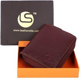 Leatherstile Men Leather Card holder - Brown , Pack of 1