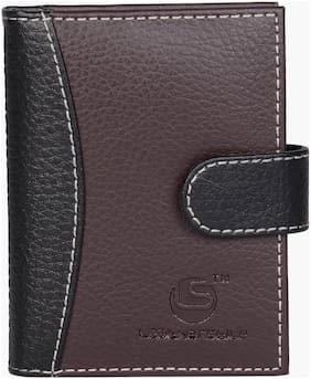LEATHERSTILE POCKET SIZE BROWN 18 CARD HOLDER SET