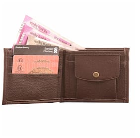 LeeRooy Stylish Brown PU Leather Wallet For Men And Boys