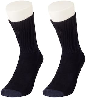 Levi's Blue Wool Crew length socks ( Pack of 2 )