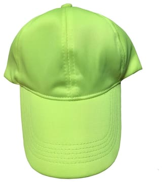 fe02603960a8b Buy Light Green Color Plain Nylon Baseball cap Online at Low Prices ...